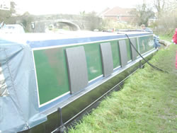 window guards on canal boat