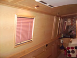 Narrow boat pleated blinds
