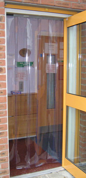 Clear PVC strips for doorways